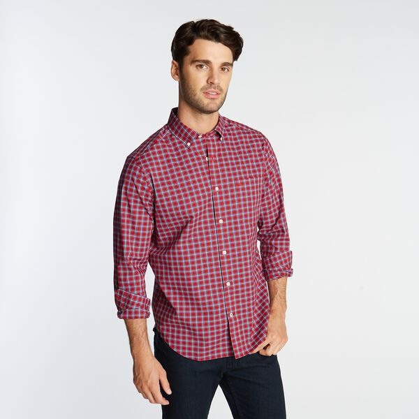 BIG & TALL CLASSIC FIT WRINKLE-RESISTANT PLAID SHIRT - Nautica Red