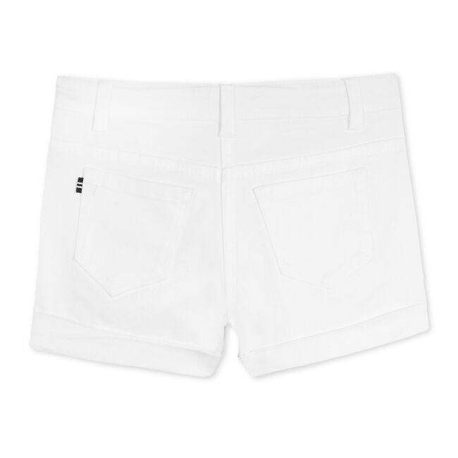 Girls' Stretch Twill Shorts,Antique White Wash,large