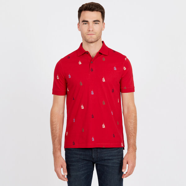 Spinnaker Short Sleeve Classic Fit Polo - Nautica Red