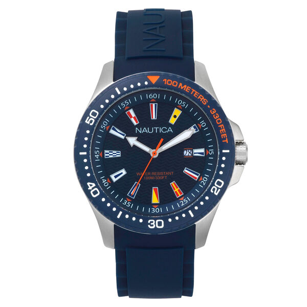 Jones Beach Silicone Watch - Navy - Pure Dark Pacific Wash