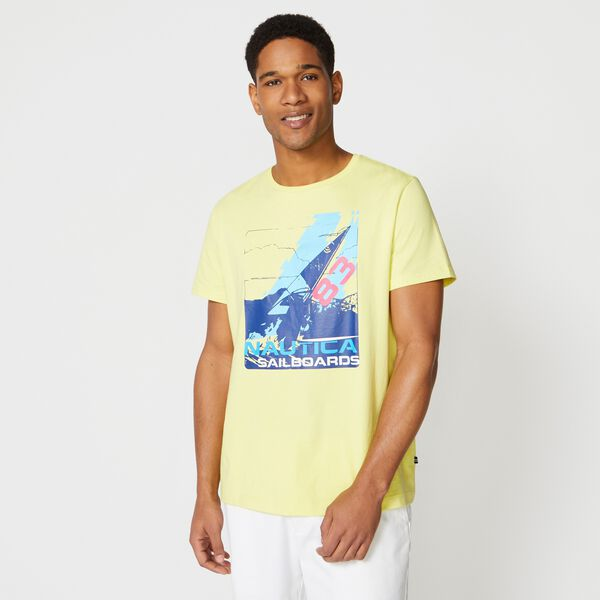 SAILBOAT GRAPHIC T-SHIRT - Dusty Honey Gold