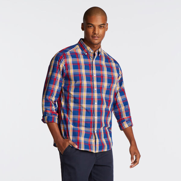 CLASSIC FIT POPLIN SHIRT IN MULTI COLOR PLAID - Limoges