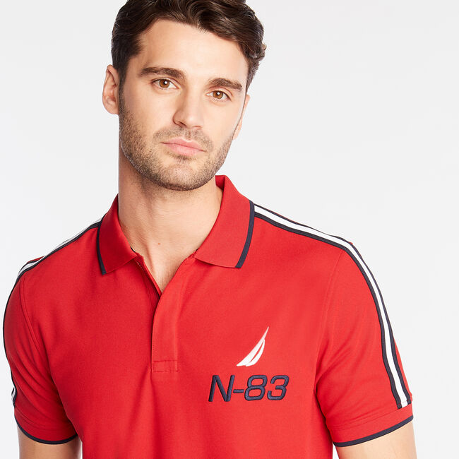 CLASSIC FIT PERFORMANCE POLO,Nautica Red,large
