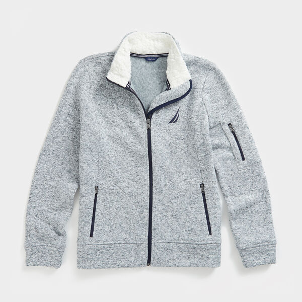 J-CLASS FULL-ZIP FLEECE - Quarry Heather
