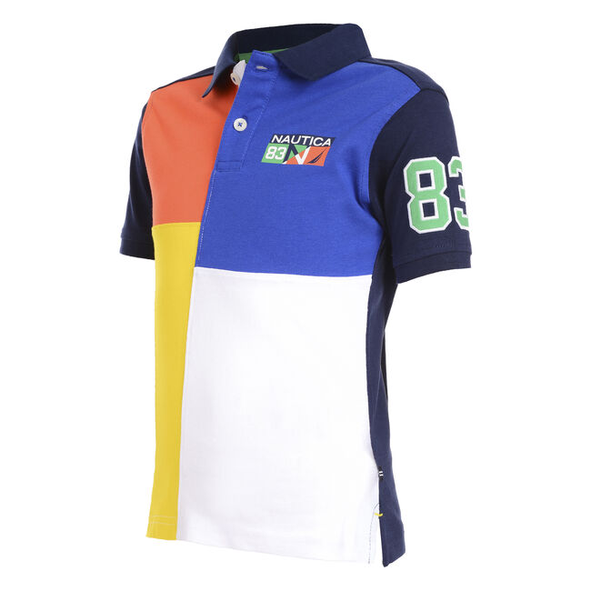 BOY'S PATCH HERITAGE POLO,Medallion Blue,large