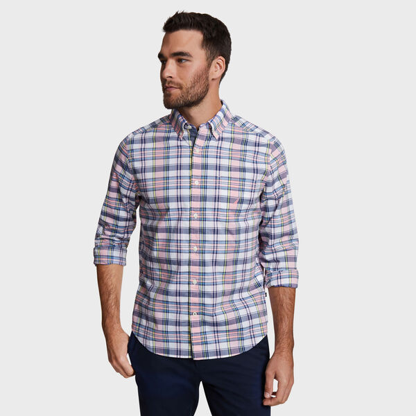Classic Fit Shirt in Plaid - Coral Sands