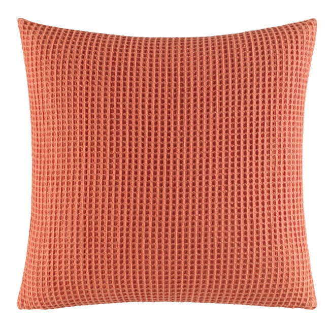 Ripple Coral Knit Throw Pillow,Pale Coral,large