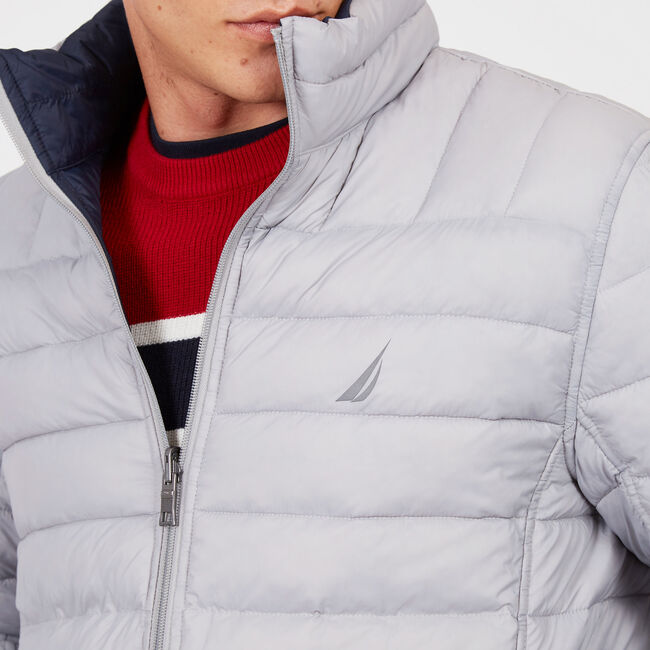 Endeavour Quilted Reversible Jacket,Grey Alloy,large