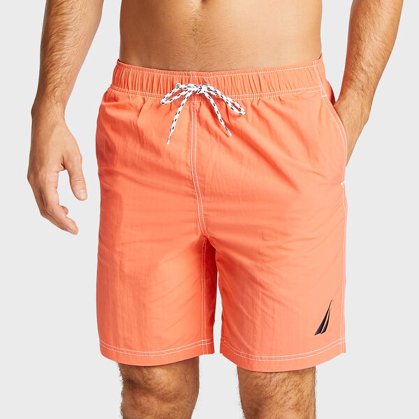 "8"" SOLID SWIM TRUNK - Livng Coral"