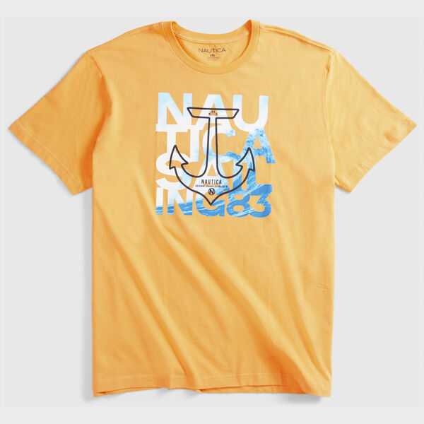 BIG & TALL SAILING GRAPHIC T-SHIRT - Orange