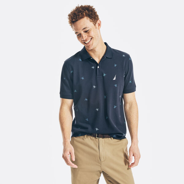 CLASSIC FIT PRINTED POLO - Navy