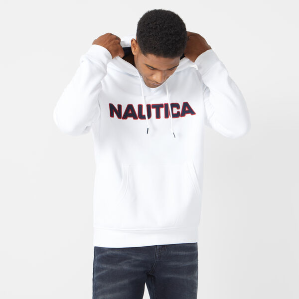 PULLOVER LOGO HOODIE - Bright White