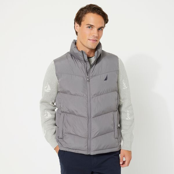 QUILTED TEMPASPHERE VEST - Grey Shadow