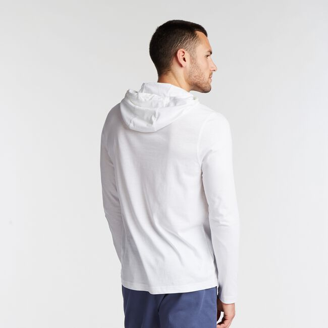 GRAPHIC LONG-SLEEVE T-SHIRT HOODIE,Bright White,large
