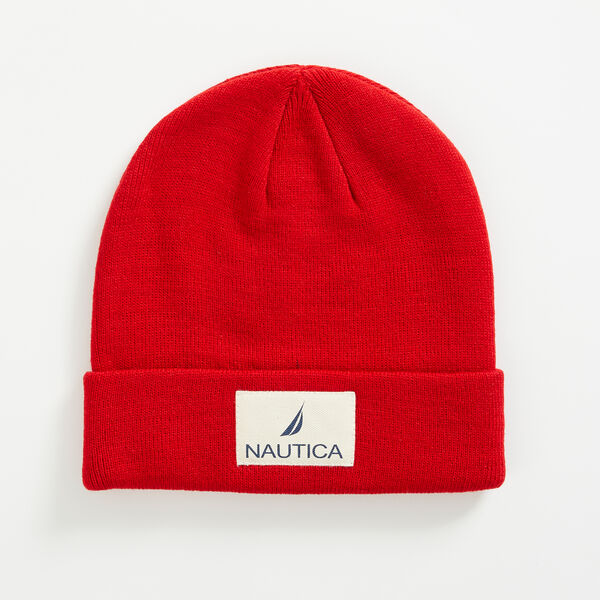 LOGO PATCH CUFFED BEANIE - Nautica Red