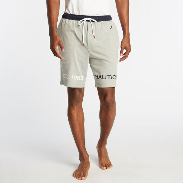 CLASSIC FIT HERITAGE SLEEP SHORTS - Grey Heather