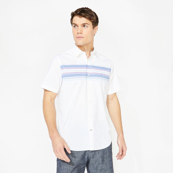 CLASSIC FIT PREMIUM COTTON STRIPE SHIRT - Bright White