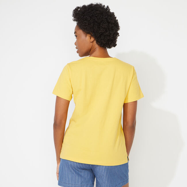 NAUTICA JEANS CO. GRAPHIC TEE,Mustard Field,large