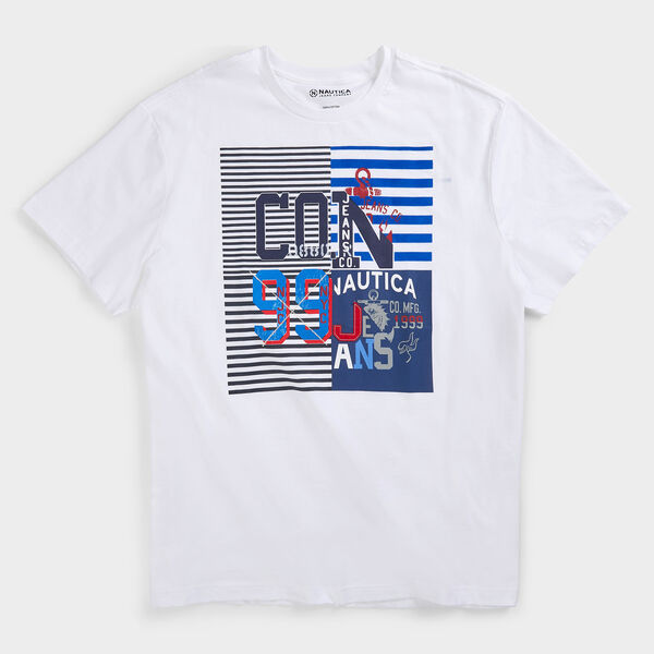 BIG & TALL NAUTICA JEANS CO. GRAPHIC T-SHIRT - Bright White