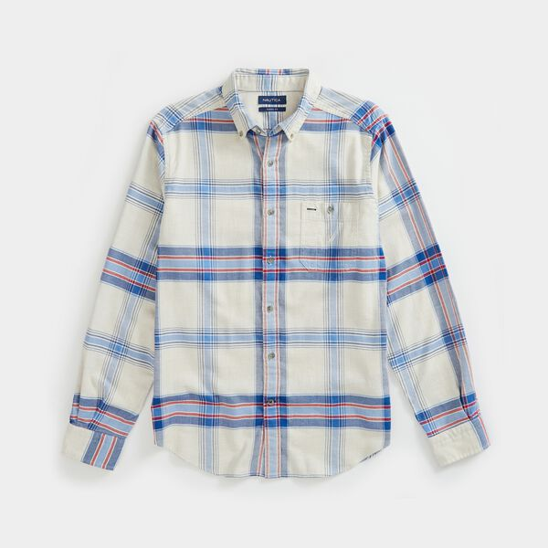 PLAID FLANNEL SHIRT - Oatmeal Heather