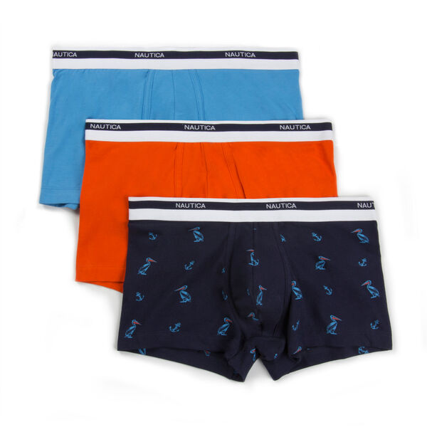 Stretch Trunks, 3-Pack - Coral Haze