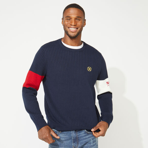 NAUTICA JEANS CO. ARM BAND SWEATER - Navy