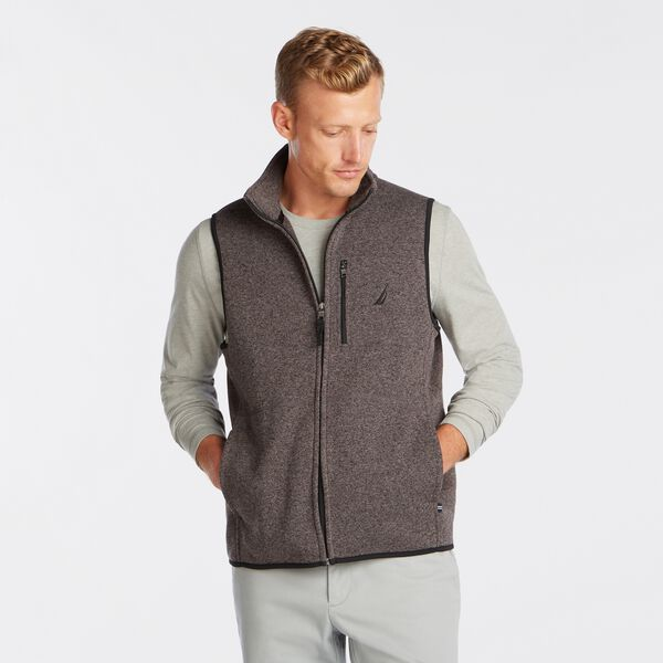 SWEATER FLEECE VEST - Charcoal Heather