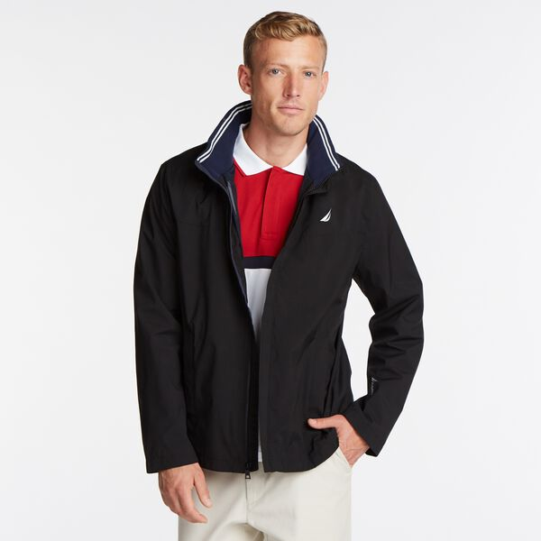 Classic Bomber With Packable Hood - True Black