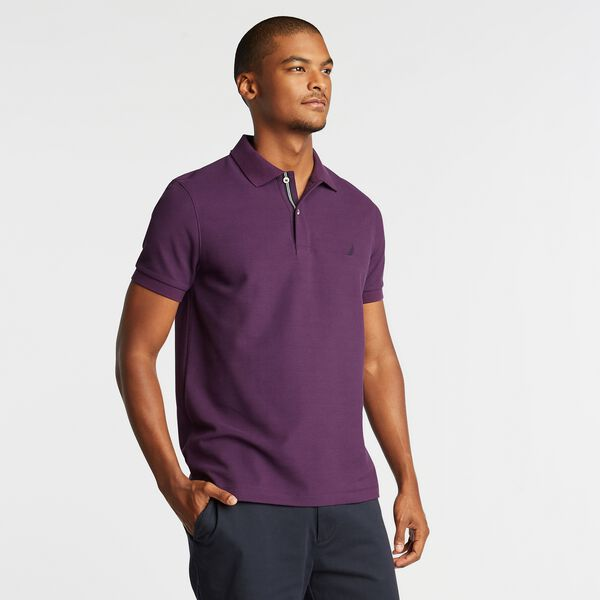 SLIM FIT PERFORMANCE DECK POLO - Blackberry