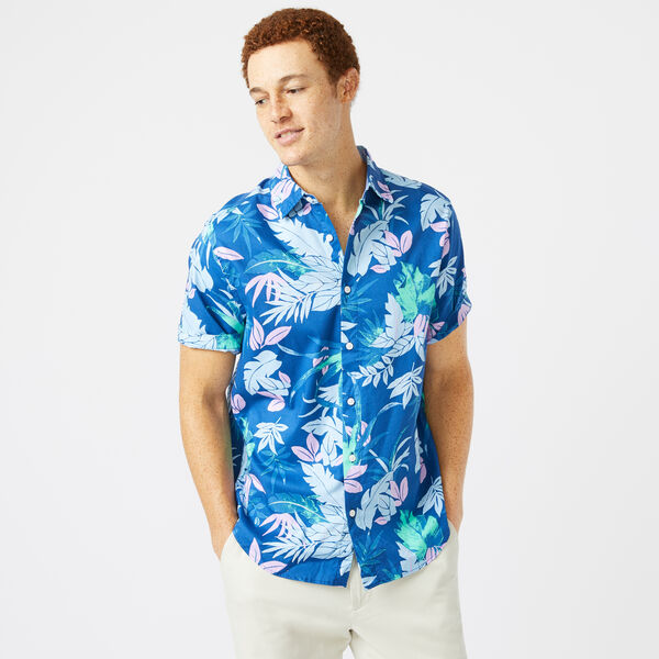CLASSIC FIT LEAF PRINT OXFORD SHIRT - Limoges