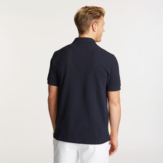 Diagonal Colorblock Performance Polo,Navy,large