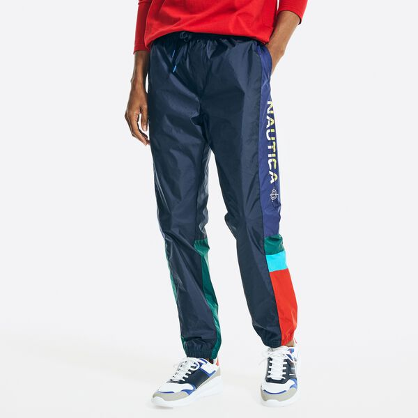 COLORBLOCK TRACK PANT - Navy