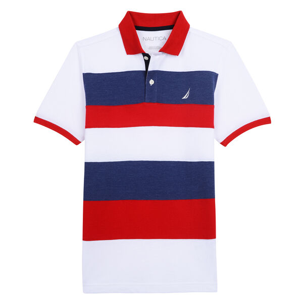 BOYS' THORNTON POLO IN STRIPE - Melonberry