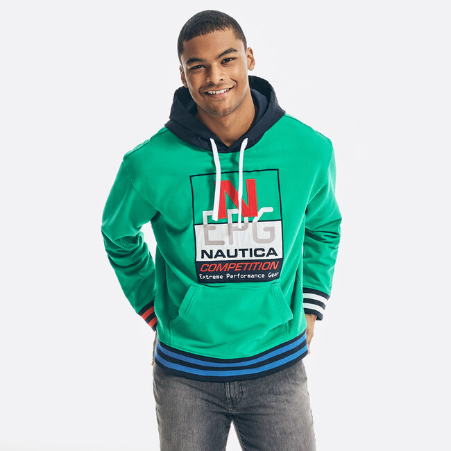 REISSUE GRAPHIC PULLOVER HOODIE,Dark Dill,large