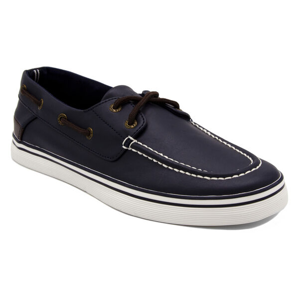 Galley 2 Boat Shoe in Navy/Brown - Pure Dark Pacific Wash