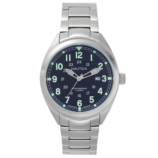 Battery Park Water Resistant Stainless Steel Watch - Rolling River Wash