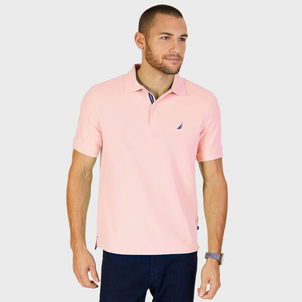 Short Sleeve Performance Deck Polo Shirt  - Coral Sands