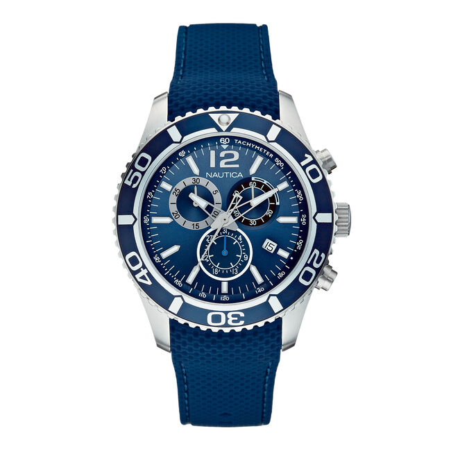 NST 09 Multifunction Chronograph Watch - Navy,Multi,large