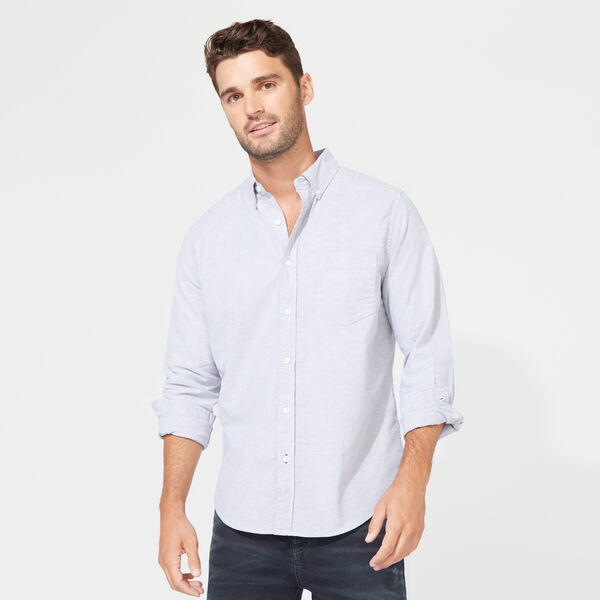 CLASSIC FIT LONG SLEEVE OXFORD SHIRT - Grey Shadow