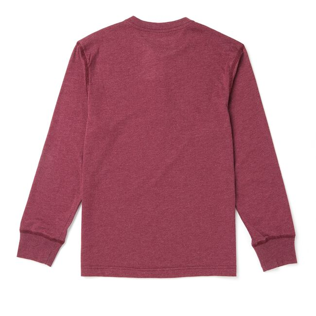 Toddler Boys' Heathered Henley Shirt (2T-3T),Pale Orchid,large