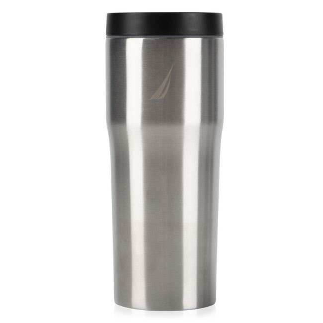 J-CLASS DOUBLE-WALLED STAINLESS STEEL PUSH-BUTTON TUMBLER,Graphite Heather,large