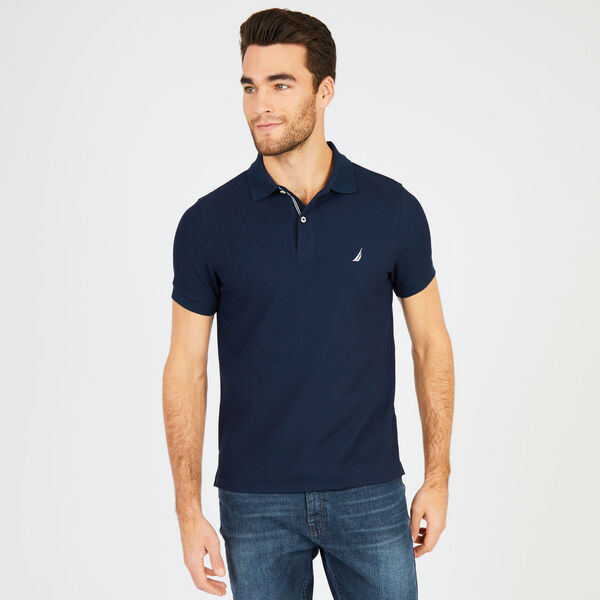 Slim Fit Performance Deck Polo - Pure Dark Pacific Wash