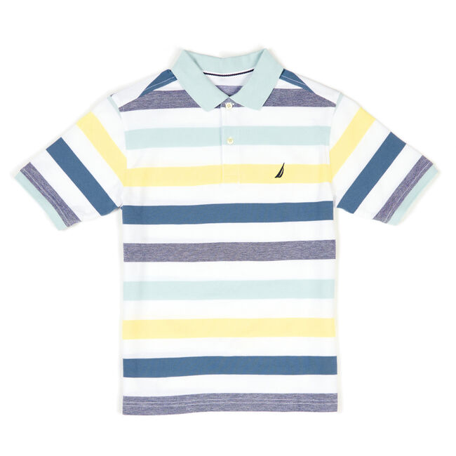 Toddler Boys' Edgewater Solid Jersey Polo (2T-4T),White,large