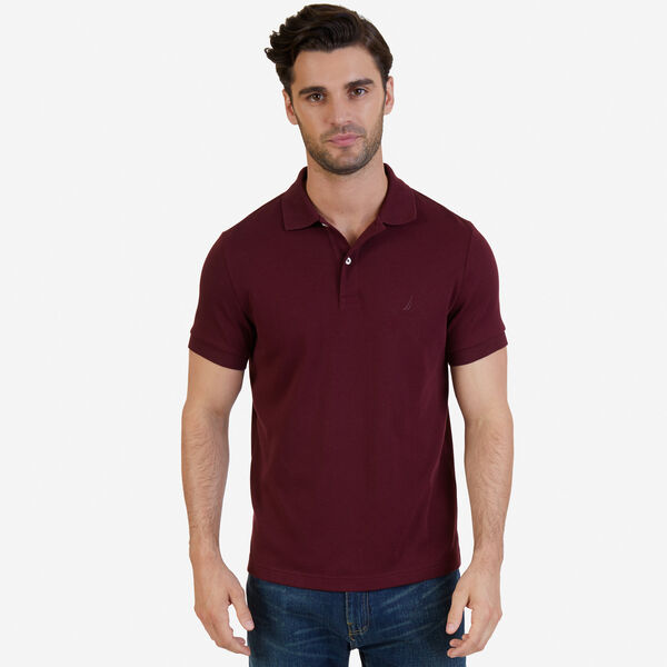SLIM FIT INTERLOCK POLO - Royal Burgundy
