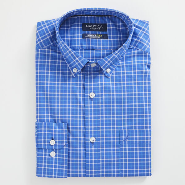 CLASSIC FIT WRINKLE RESISTANT SHIRT IN MINI TATTERSALL - Rolling River Wash