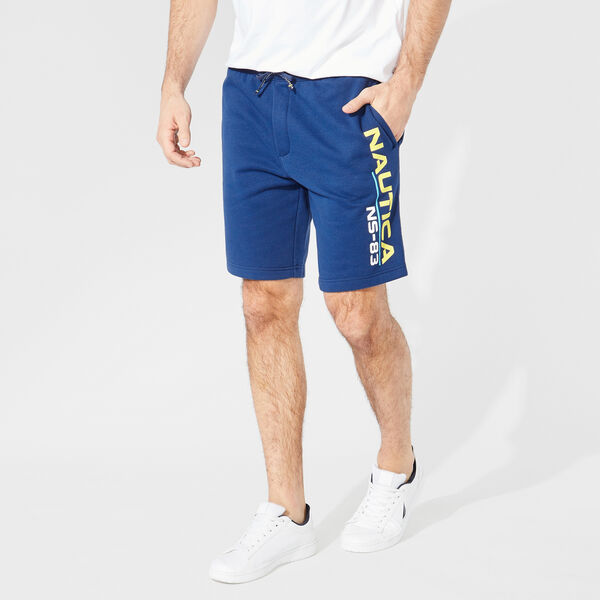 NS-83 PRINT KNIT SHORTS - Estate Blue