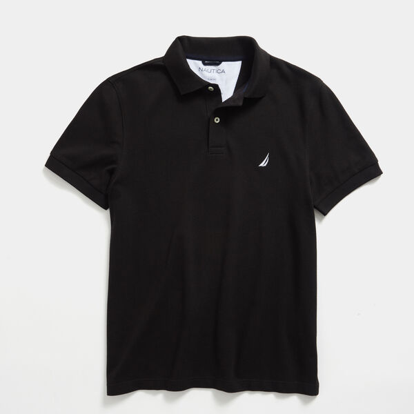 SLIM FIT DECK POLO - True Black
