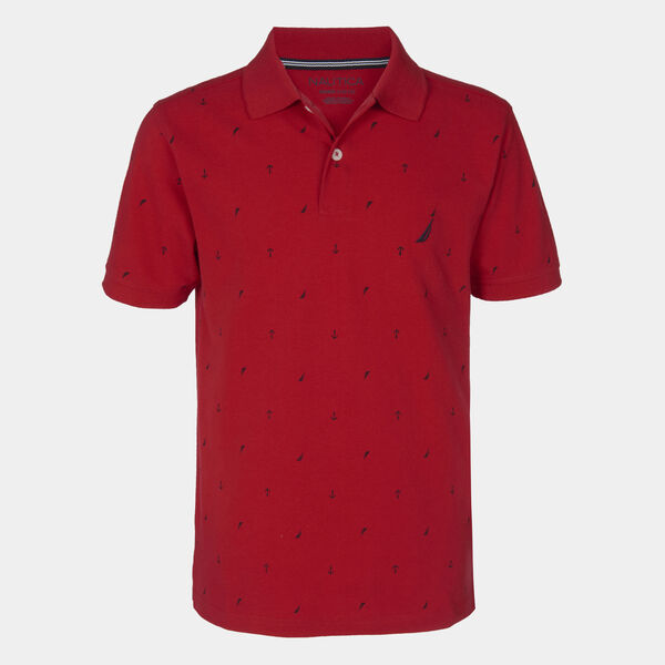 BOYS' BISCAYNE PRINTED POLO (8-20) - Melonberry
