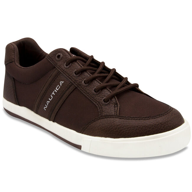 Hull Logo Sneakers,Brown Stone,large