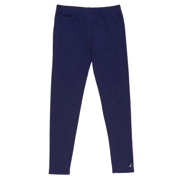 Girls' Solid Leggings - Navy